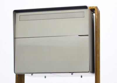 Design Chromstahl Briefkasten