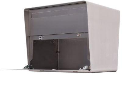 Design Briefkasten aus Chromstahl