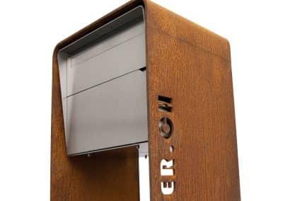 Design Briefkasten Rostständer