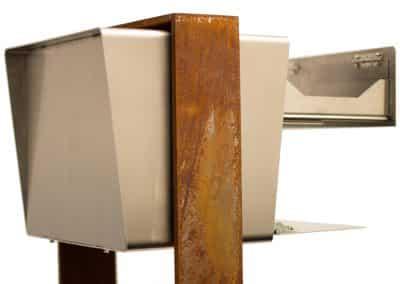 Edelstahl Briefkasten mit Rostständer