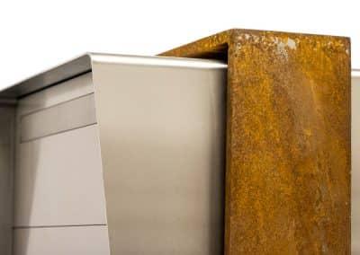 Design Briefkasten Rost