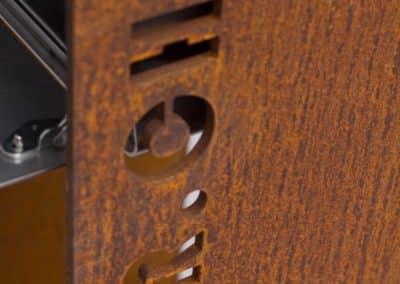 Chromstahl Briefkasten Ständer aus Rost