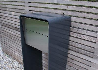 Design Briefkasten Edelstahl & Anthrazit