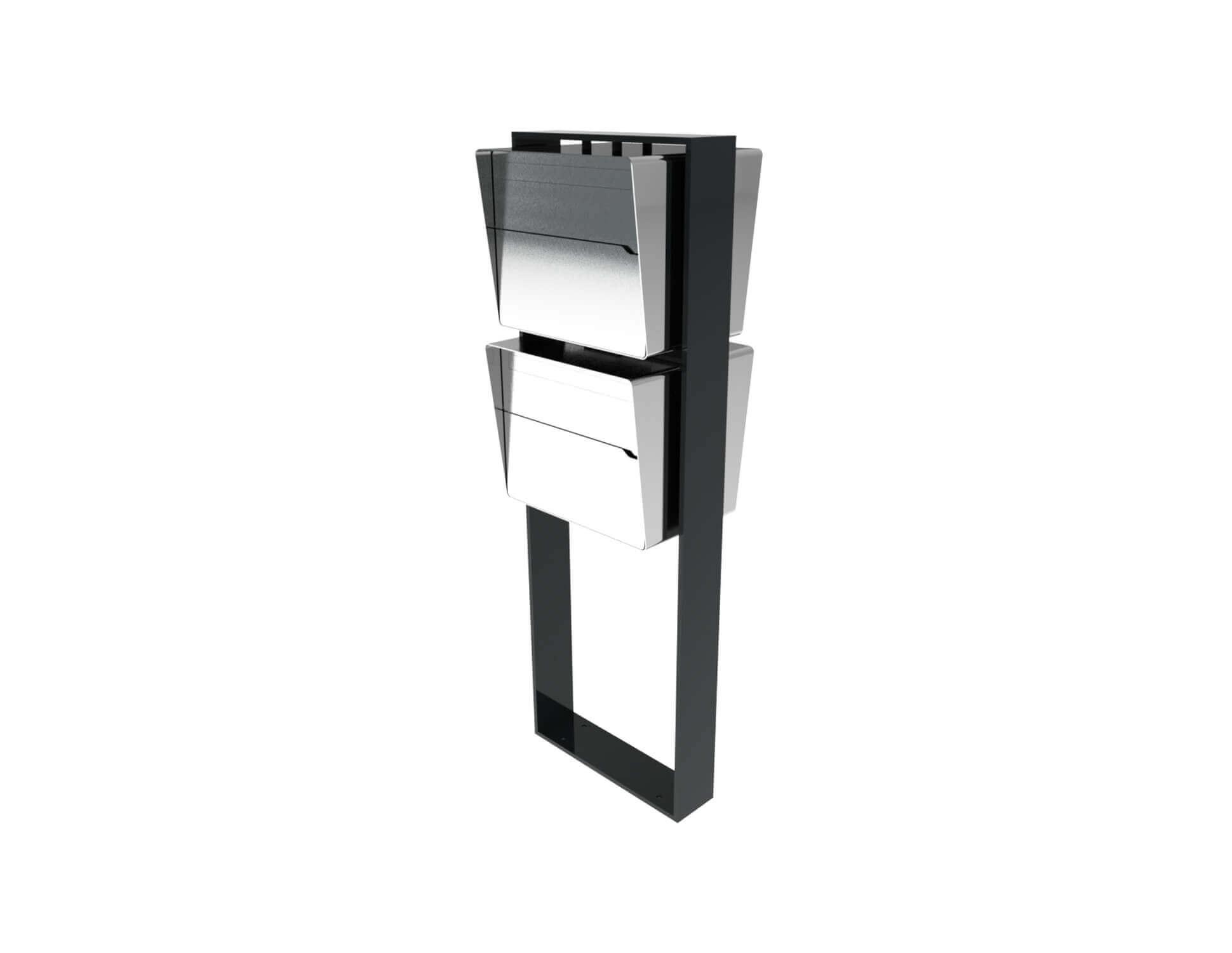 Moderne freistehende Briefkastenanlage Brevis 2er Vertikal