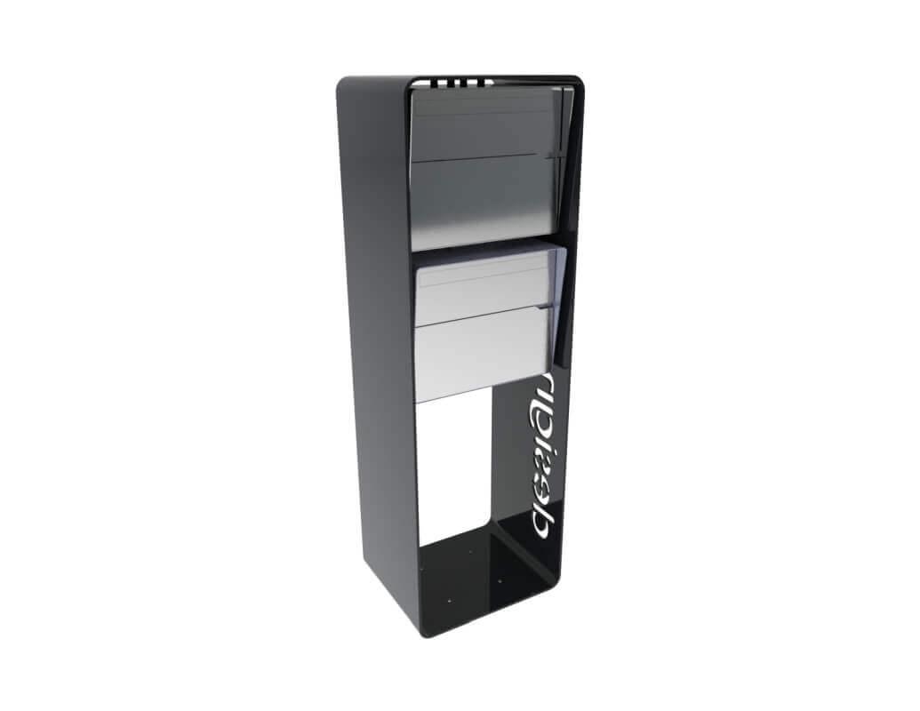 Design Briefkastenanlage Bellus 2er Vertikal