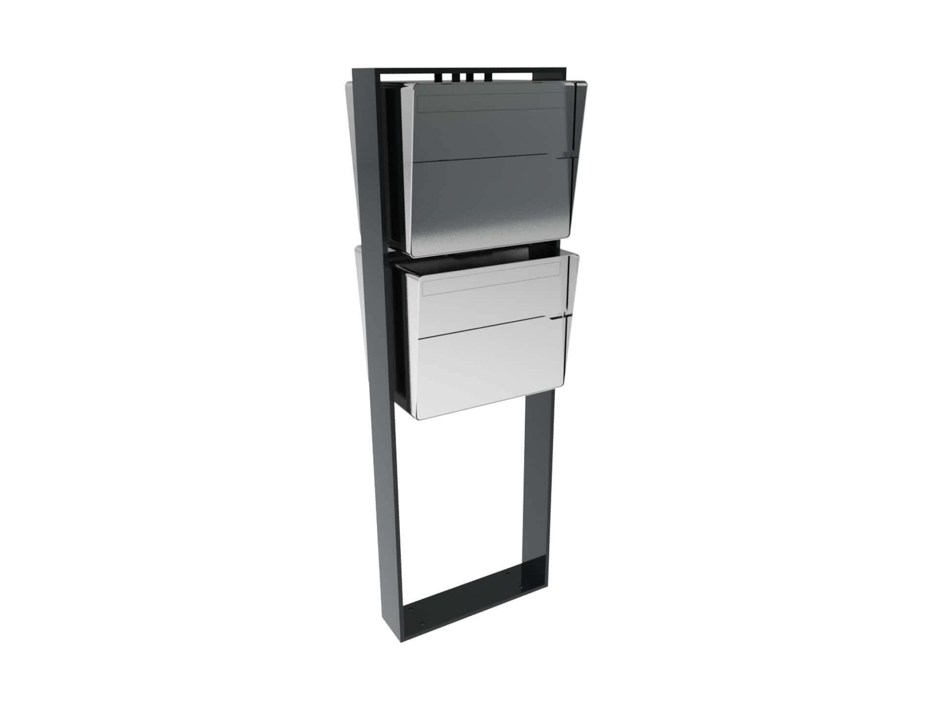 Design Moderne Briefkastenanlage Bellus 2er Vertikal