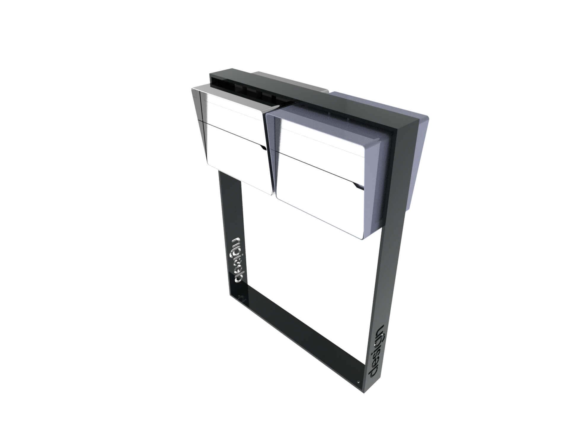 Moderne freistehende Briefkastenanlage Brevis 2er Horizontal MFH